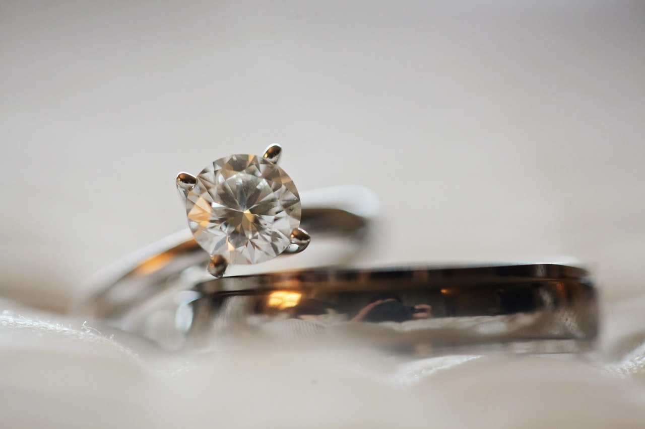 A large diamond on a ring