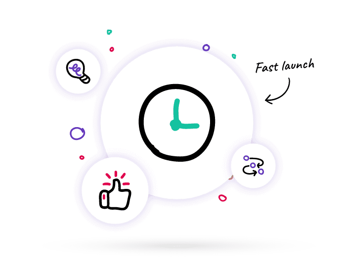 Clock to represent how quickly an accountant can launch a business advisory service using Lucidity strategy software