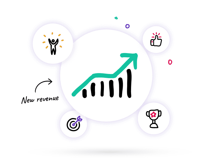 Growing graph, targets hit to show how coaches and consultants can earn new revenue through a partnership with Lucidity strategy software