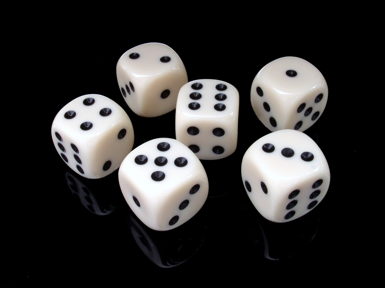 Six Dice representing the Six Forces