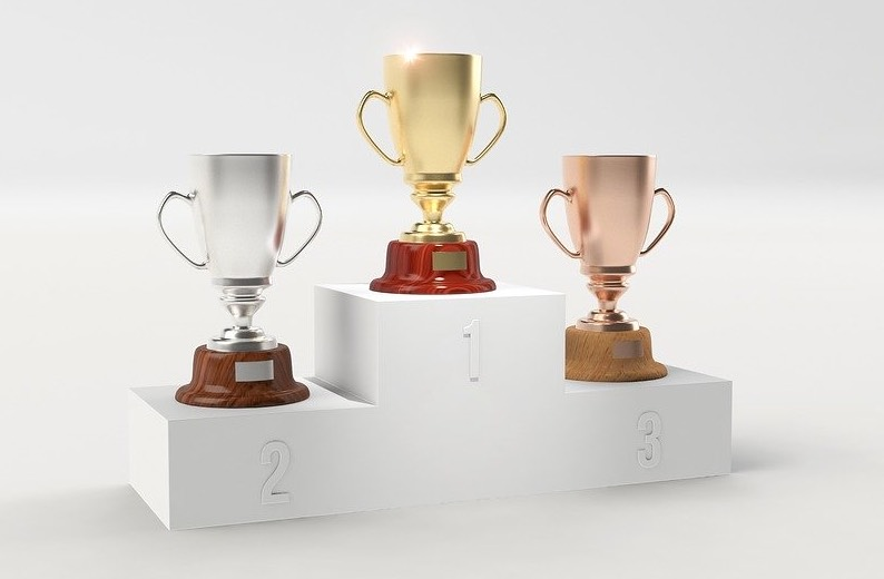 Three trophies representing different scoring from the SFA Matrix