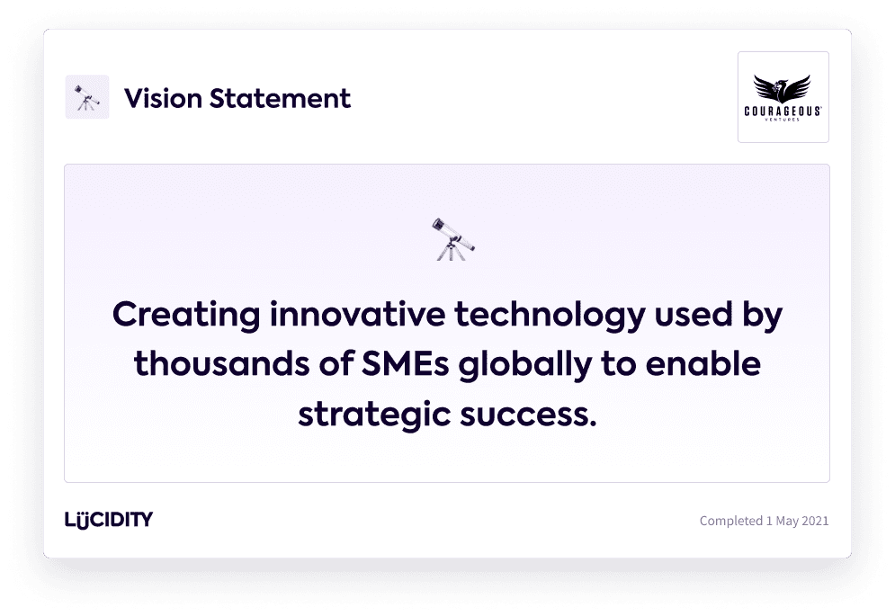 An example of a Vision Statement: