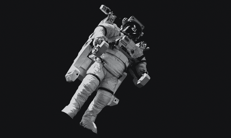 An astronaut in space representing mission statements