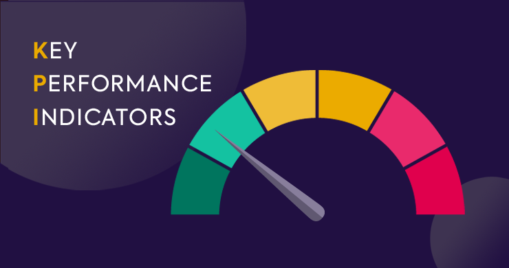 A diagram with a dial representing Key Performance Indicators