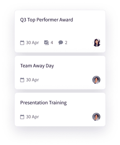 custom task board to manage sales team development activity in lucidity strategy software